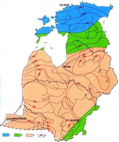 Požeminio vandens zoniškumas Pabaltijo regione