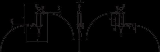 Wilo-SiClean dalelių skirtuvo schema