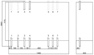 Termix Compact 28 VVX-FI šilumos mazgo matmenys